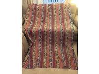 Curtains - 1 x pair - PINK 90 x 54 inches, with TIE-BACKS (used, excellent condition)