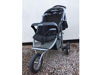 Graco 3 Wheel Stroller / Pushchair / Buggy - From Birth To Toddler - Many extras