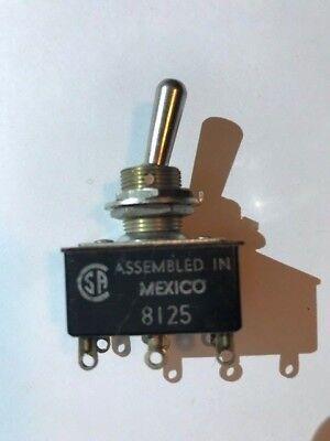 Vintage New A-hh 3a 250v - 6a 125v - Toggle Switch - 8125 Sa