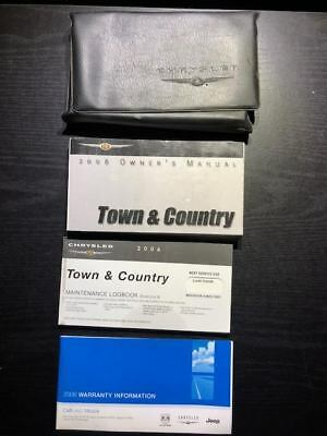 2006 Chrysler Town & Country Owners Manual with Case OEM Free