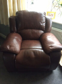 Armchair Brown with Relaxer mechanism for Spares or Repair