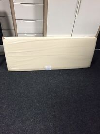 Cream faux leather flat headboard 18inch (comes in a variety of colours and fabrics) double