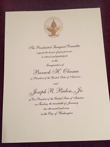 Inauguration invitation presidents first ladies ebay official inauguration invitation barack obama president stopboris Image collections
