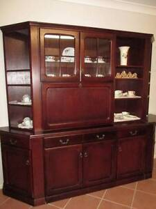 Timber Wall Unit. China Display Cabinet With Glass Doors. Morayfield Caboolture Area Preview