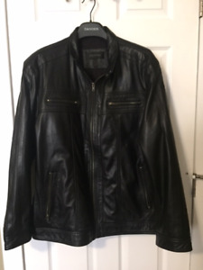 Leather Bomber Jacket-Men's- brand new condition worn twice-