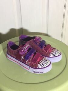 Brand New Sketchers Twinkle Toes Light-Up Shoes Size 2