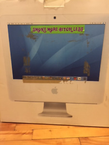 """non-functioning 2006 iMac 17""""- good for parts!"""
