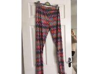 Missoni inspired leggings - worn once, good condition, soft fabric. Size Medium