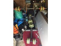 Weight Bench & Selection of Iron & Cement Wieghts