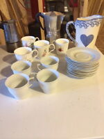 China cups, saucers, coffee pots