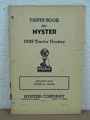 Oem Hyster D6n Tractor Donkey Winch For D6 Cat Parts Book Catalog List Manual