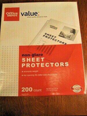 Sheet Protectors Non-glare Top Loading By Office Depot Open Box 190 Available