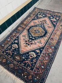 MUKI - Antique Traditional Vintage Persian Rug 190 X 145 CM 6.2 X 4.7 FT Handwoven Carpet