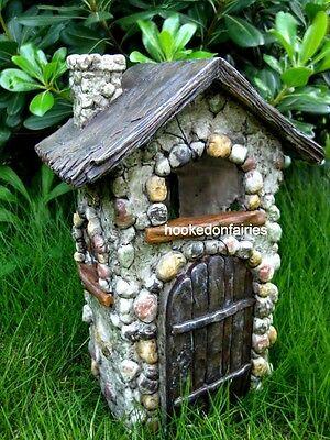 Hobbit House - Miniature Fairy Garden KATIE'S COTTAGE w Hinged Door House Gnome Hobbit House WS