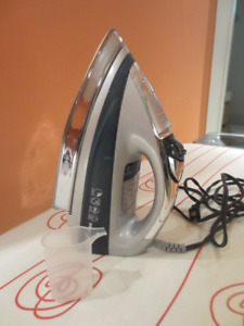 Black and Decker Steam Iron and Ikea Ironing Table