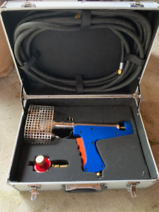 Shrink wrap heat gun propane
