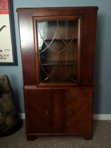 Antique 1940's China Cabinet