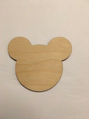 Mickey Mouse Cutouts (Crafting Supplies -Mickey Mouse Cutout, Disney, Unfinished Laser Cut Wood)