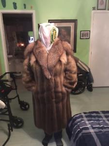 Beaver/Fox Fur Coat