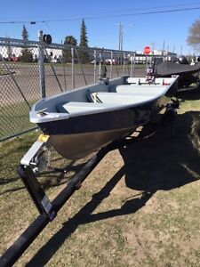2015 MIRROCRAFT 14 FOOT C/W 9.9 AND TRAILER $4750.00