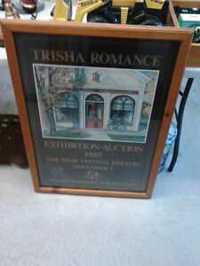 REDUCED - TRISHA ROMANCE framed poster London Ontario image 1