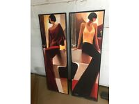 Keith Mallet Prints X 2 good condition mounted to wood.