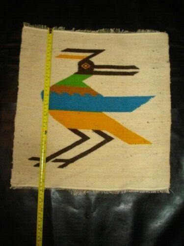 "Ecuador Vintage Wool Wall Hangings Tapestry 16.5""x17"" colorful birds"