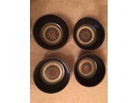 4x Bowl Denby Arabesque China Crockery Discontinued Brown Pattern