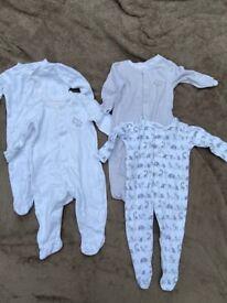 Baby gender neutral sleepsuits bundle 6m