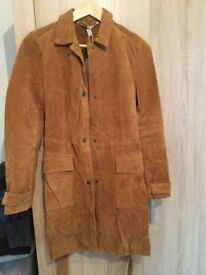 Ladies Zara Suede Trench Coat New with tags