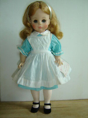 "Madame Alexander Alice In Wonderland Doll 13"" with wrist tag"