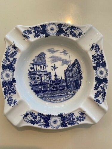VTG J. H. Weatherby & Sons London Pride Piccadilly Circus Ceramic Ashtray MINT