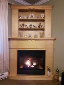 propane gas fireplace and 2 piece mantle