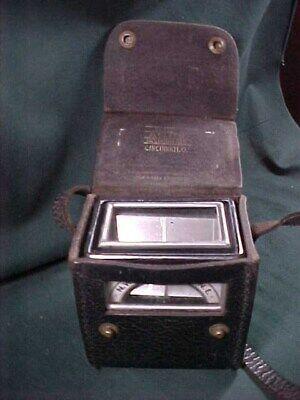 Vintage Aqua Survey Instrument Co. Magnetic Locator Compass With Leather Case