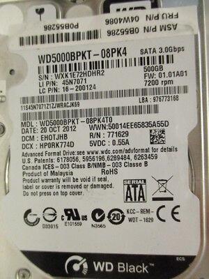 WD 500 GB WD5000BPKT-08PK4T0 DCM:EHOTJHB | 20OCT2012 X181 Festplatte disco dur segunda mano  Embacar hacia Argentina