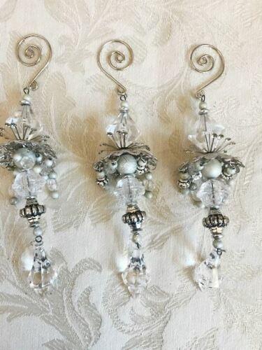 """Fabulous Fancy Chandelier 8"""" Long Christmas Ornaments Lot of 3 Beautiful!"""