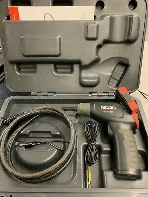Ridgid Micro Ca-25 Inspection Camera Cable Reach 2.7 Screen - Used