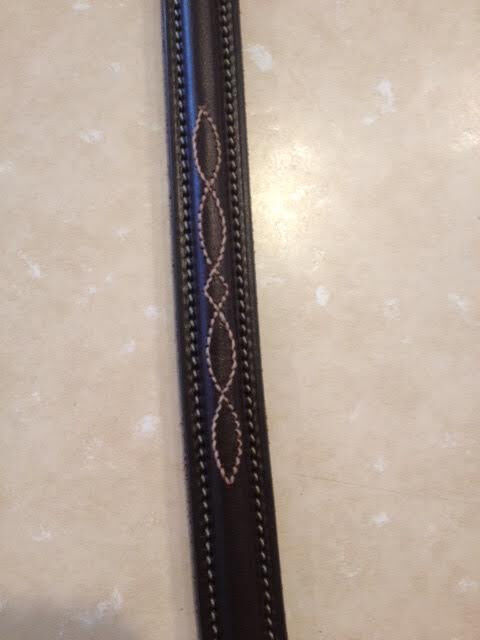 """NEW Edgewood Fancy Stitched Reins- 54""""- Oiled Newmarket"""