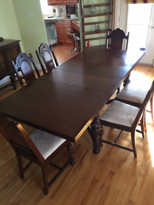 Make an Offer - six solid wood antique dining chairs