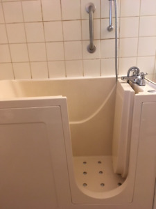 Walk-in jetted tub