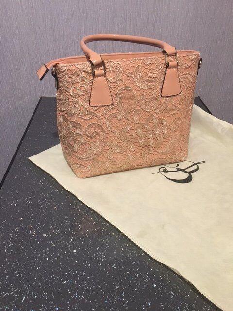 Brand New Ladies Nude Lace Handbag