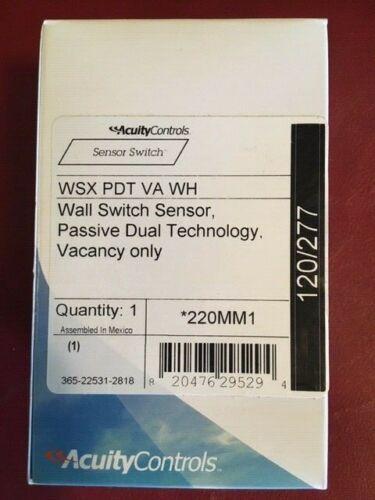 Acuity / NLight /Sensor Switch WSX PDT VA WH Wall sensor switch passive dual tec