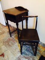 Estate Sale  Antique Telephone table with Chair