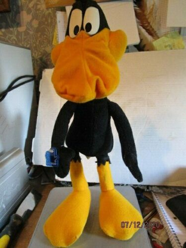 "Daffy Duck 15"" Tall Poseable Bendable Plush Looney Tunes Applause 1994 b124"