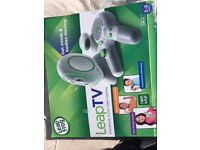 LEAP TV Educational Gaming System, plus extra controller and 2 x games