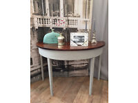 Lovely shabby chic mahogany side table by Eclectivo