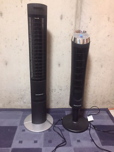 Two tall tower area fans