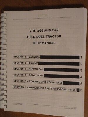 White Tractor 2-55 2-65 2-75 Shop Manual Repair Field Boss