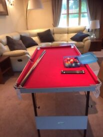 child's folding pool table