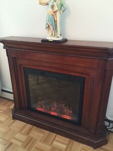 "Décor Electric Fireplace with 53"" Mantle, Dark Cherry"